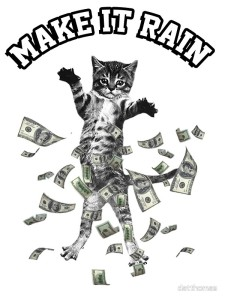 cats love money